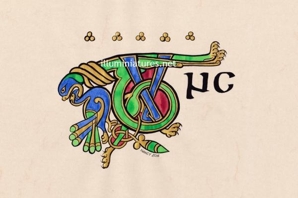 "Illuminated ""Tunc"" from the Book of Kells / ""Tunc"" enluminé du Livre de Kells"