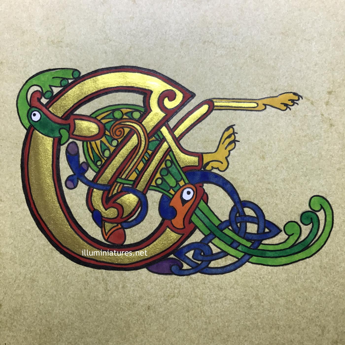 Celtic E initial from the Book of Kells / Initiale E celtique du Livre de Kells