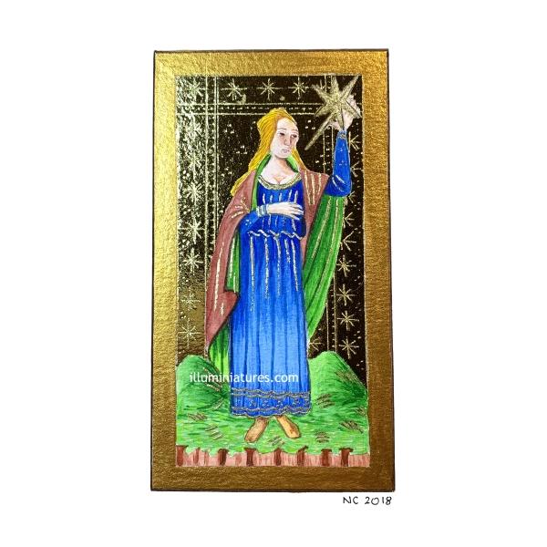 Visconti-Sforza tarot: the Star / Tarot Visconti-Sforza : l'Etoile
