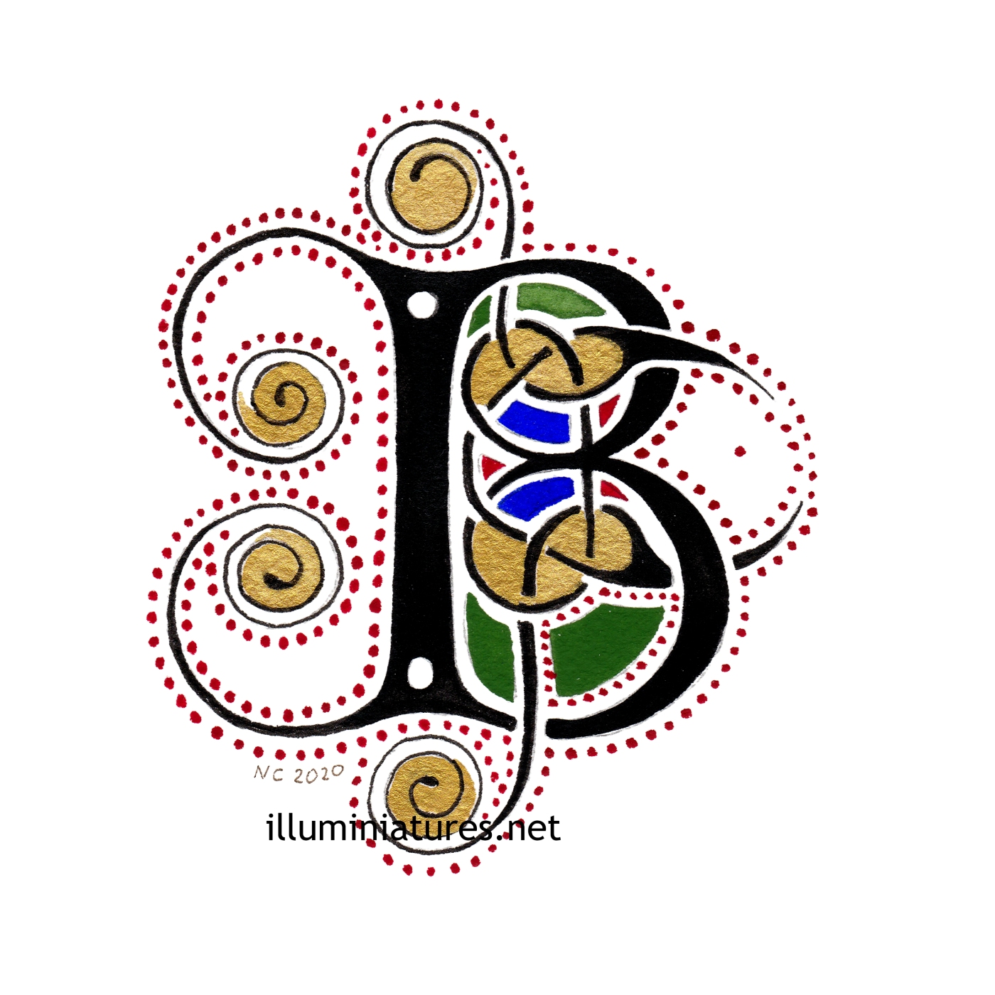 Celtic B initial / Initiale B celtique